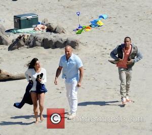 Vin Diesel, Michelle Rodriguez and Ludacris - Vin Diesel filming last scenes for