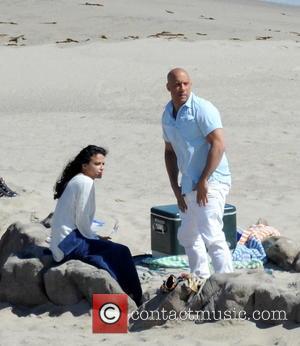 Vin Diesel and Michelle Rodriguez - Vin Diesel filming last scenes for