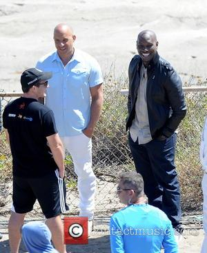 Vin Diesel and Tyrese Gibson - Vin Diesel filming last scenes for