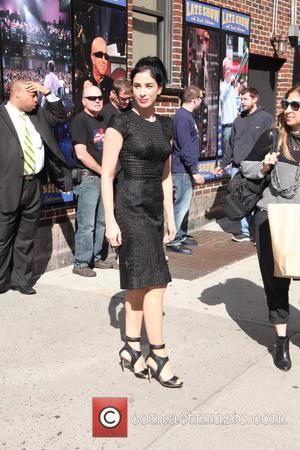 Sarah Silverman - Celebrities at The Late Show with David Letterman - New York City, New York, United States -...
