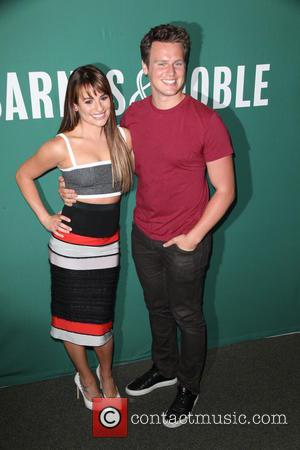 Lea Michele and Jonathan Groff
