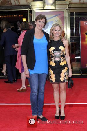 Miranda Hart and Sarah Hadland - Miss Saigon Press Night at the Prince Edward Theatre - Arrivals - London, United...