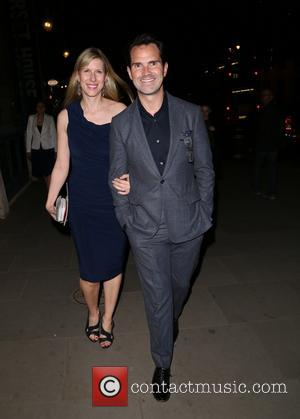 Jimmy Carr and Karoline Copping - Miss Saigon Press Night at the Prince Edward Theatre - Departures - London, United...