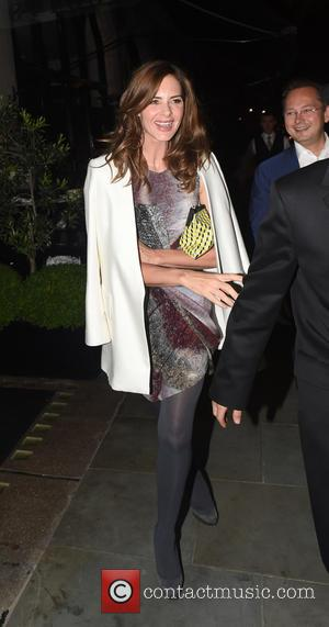 Trinny Woodall - Charles Saatchi and Trinny Woodall leaving Scott's restaurant after dining out together. The couple were seen laughing...