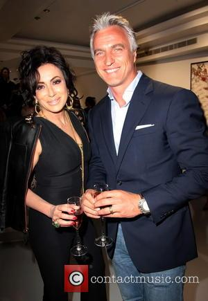 Nancy Dell'olio and David Ginola - Contini Art UK gallery opening at 105 New Bond Street - London, United Kingdom...