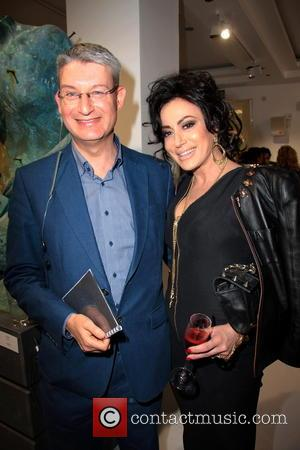 Nancy Dell'olio and Richard Brecker - Contini Art UK gallery opening at 105 New Bond Street - London, United Kingdom...
