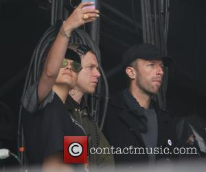 Lily Allen and Chris Martin