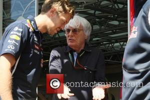 Sebastain Vettel and Bernie Ecclestone