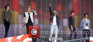 One Direction - One Direction, 1 Direction, 1D perform on the Main Stage of the Radio 1 Big Weekend in...