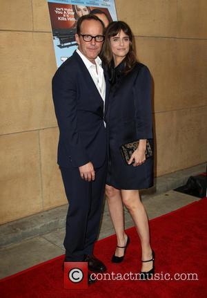 Clark Gregg and Amanda Peet