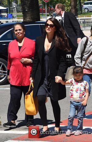 Aishwarya Rai and Aaradhya Bachchan - Aishwarya Rai arrives at Nice Côte d'Azur International Airport with her daughter Aaradhya Bachchan...