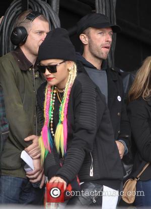 Chris Martin and Rita Ora