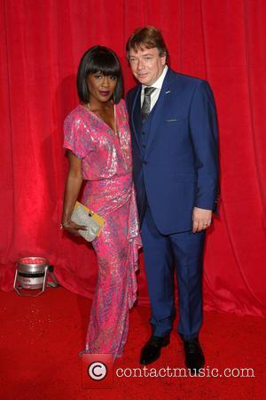 Adam Woodyatt and Diane Parish - The British Soap Awards 2014 held at Hackney Empire - Arrivals - London, United...