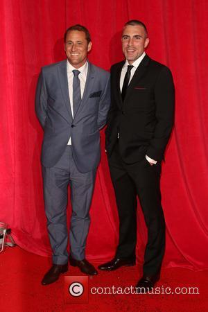 Nick Pickard and Greg Wood - The British Soap Awards 2014 held at Hackney Empire - Arrivals - London, United...