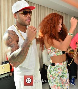 Flo Rida and Natalie Larose - Flo Rida attends a private party at Miami Beach - Miami Beach, Florida, United...