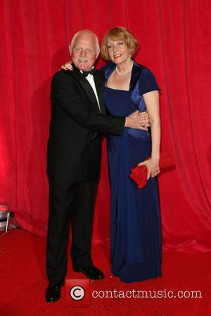 Chris Chittell and Charlie Hardwick - The British Soap Awards 2014 held at Hackney Empire - Arrivals - London, United...
