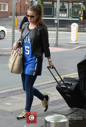 Brooke Vincent - Cast members of 'Coronation Street' arrive at Manchester Piccadilly train station after attending the British Soap Awards...