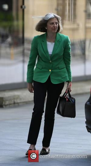 Theresa May - Theresa May seen arriving at BBC Broadcasting House for The Andrew Marr Show. - London, United Kingdom...