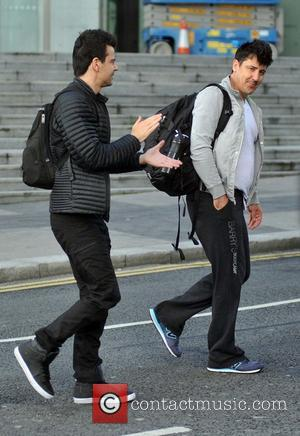 Jordan Knight and Jonathan Knight - New Kids on the Block arrive at the Bord Gáis Energy Theatre - Dublin,...
