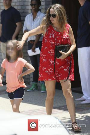 Jennifer Meyer - Tobey Maguire seen arriving at Joel Silvers Memorial Day party in Malibu. - Los Angeles, California, United...