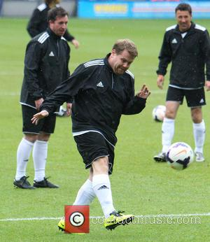James Corden - One Direction host a football match to raise funds for Irish Autism Action at King Power Stadium...