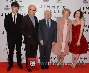 Barry Ward, Ken Loach, Michael D Higgins, Sabina Coyle and Simone Kirby