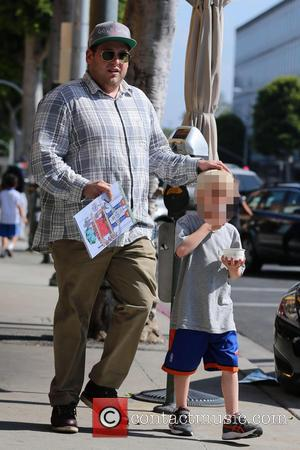Jonah Hill - Jonah Hill takes one of his nephews out for frozen yogurt in Beverly Hills. Hill carries the...