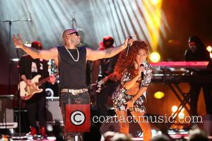 Flo-Rida and Natalie de Rose - The 2014 World Music Awards at the Salle des Etoiles - Inside - Monte...