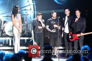 US-band 'Fall Out Boy' - The 2014 World Music Awards at the Salle des Etoiles - Inside - Monte Carlo,...