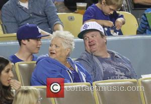 Eric Stonestreet - Celebrities watch the Los Angeles Dodgers v Cincinnati Reds baseball game at Dodger Stadium. The Dodgers defeated...