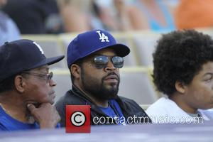 Ice Cube - Celebrities watch the Los Angeles Dodgers v Cincinnati Reds baseball game at Dodger Stadium. The Dodgers defeated...