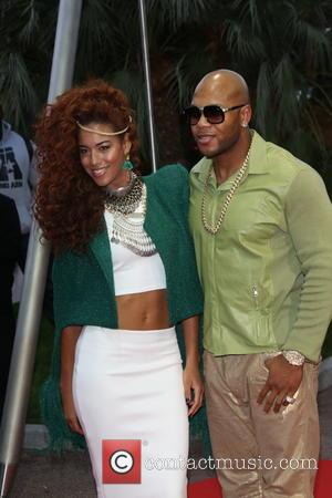 Flo-Rida and Natalie de Rose - The 2014 World Music Awards at the Salle des Etoiles - Arrivals - Monte...
