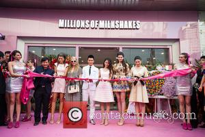 Paris Hilton, Zendaya Coleman, Xiaoming Huang, Angelababy, Angela Yeung and Monica Gabor - Millions of Milkshakes CEO Monica Gabor hosted...