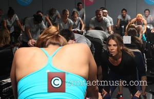 Jillian Michaels - Jillian Michaels leads Flywheel class to Celebrate the Launch of EBOOST natural energy flavors for SodaStream -...