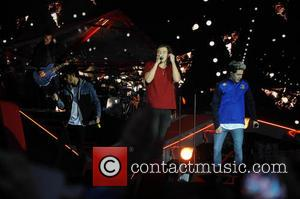 Harry Styles, Niall Horan and Zayn Malik - One Direction kick off 'Where We Are Tour' in Sunderland - Sunderland,...