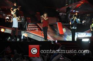 Zayn Malik, Harry Styles and Liam Payne - One Direction kick off 'Where We Are Tour' in Sunderland - Sunderland,...