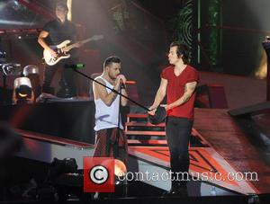 Harry styles, Liam Payne and One Direction - One Direction kick off 'Where We Are Tour' in Sunderland - Sunderland,...