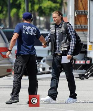 Charlie Hunnam - Actor Charlie Hunnam spotted on the first day of shooting the final season of thier hit show...