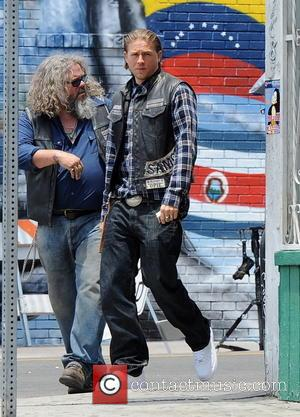 Charlie Hunnam and Mark Boone Junior - Actor Charlie Hunnam spotted on the first day of shooting the final season...