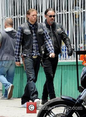 Charlie Hunnam and Tommy Flanagan - Actor Charlie Hunnam spotted on the first day of shooting the final season of...