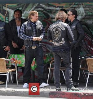 Charlie Hunnam, Tommy Flanagan and Jimmy Smits - Actor Charlie Hunnam spotted on the first day of shooting the final...