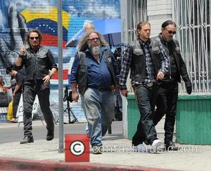 Charlie Hunnam, Tommy Flanagan, Kim Coates and Mark Boone Junior - Actor Charlie Hunnam spotted on the first day of...