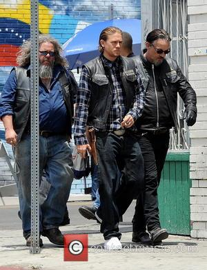 Charlie Hunnam, Tommy Flanagan and Mark Boone Junior - Actor Charlie Hunnam spotted on the first day of shooting the...