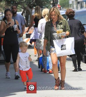 Hilary Duff and Luca Cruz Comrie