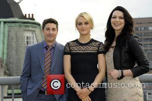Taylor Schilling, Jason Biggs and Laura Prepon - Netflix exclusive series 'Orange Is The New Black' Photocall at the Soho...
