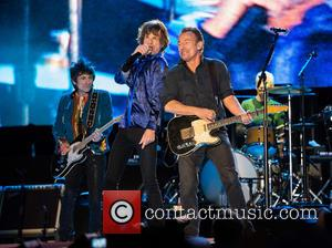 The Rolling Stones, Mick Jagger, Ronnie Wood and Bruce Springsteen