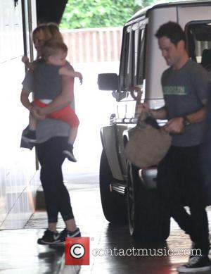 Hilary Duff, Luca Cruz Comrie and Mike Comrie