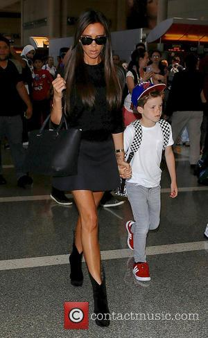 Victoria Beckham and Cruz Beckham