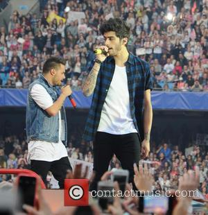 Zayn Malik and Liam Payne - One Direction performs at City of Manchester Stadium as part of their 'Where We...