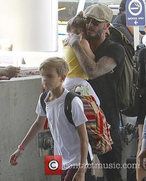 Harper Beckham, David Beckham and Romeo Beckham